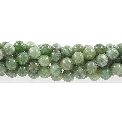 Semi-precious round beads, 8mm, olive jade (candy), approx. hole size 1-1.20mm, 16 inch strand