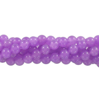 Semi-precious round beads, 8mm, purple candy jade, approx. hole size 1-1.20mm, 16 inch strand