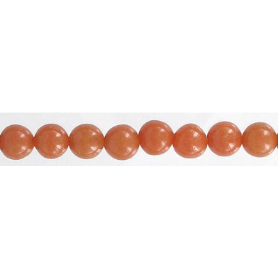Semi-precious round beads, 16 strand, red aventurine, 8mm