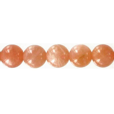 Semi-precious round beads, 8mm, sunstone, 16 inch strand