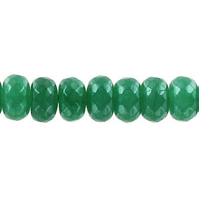 Semi-precious faceted beads, 8mm, rondelle, green new jade, 16 inch strand