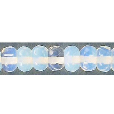 Semi-precious faceted beads, 8mm, rondelle, moonstone, 16 inch strand