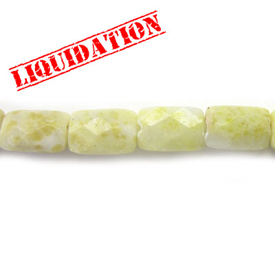 Semi-precious faceted beads, 16, oct. olive jade
