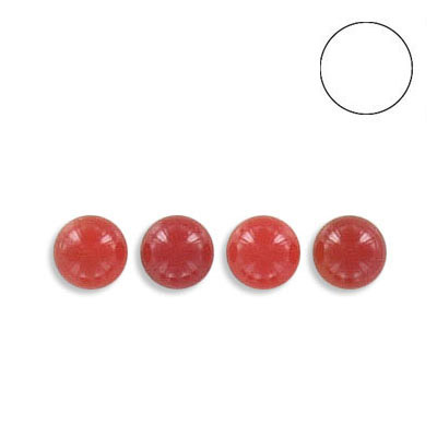 Semi-precious round ball, 5mm, cornelian, no hole
