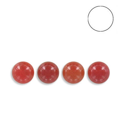 Semi-precious round ball, 6mm, cornelian, no hole