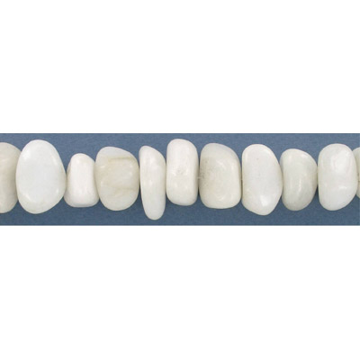 Semi-precious chips, 32 inch, large, white howlite