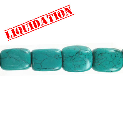 Semi-precious beads, 18-19mm, nuggets, turquoise with matrix, reconstituted, 8 inch strand