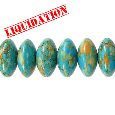 Semi-precious beads, 12mm, rondelle, mosaic magnesite, approx. hole size 1-1.20mm, 7 inch strand