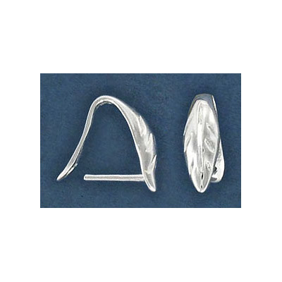 Sterling silver bail, 13mm, leaf