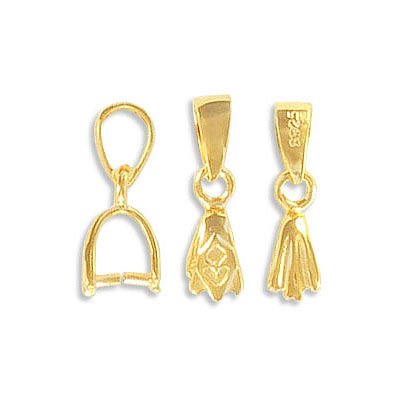 Sterling silver bail, with gold vermeil, .925