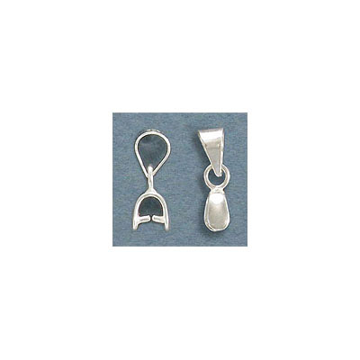 Sterling silver bail, 15mm height, 5mm width, 3.5mm thick, .925