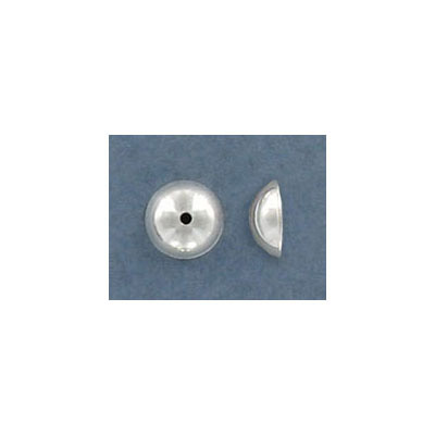 Sterling silver bead cap, 6mm, inside diameter 5mm