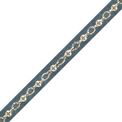 Link chain, 3mm, sterling silver, rhodium plate