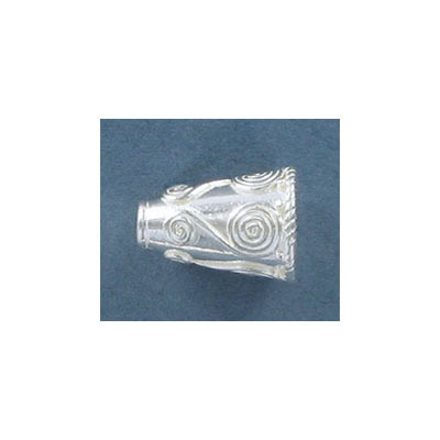 Sterling silver cord end, 16x12mm