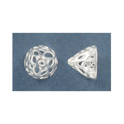 Sterling silver cord end, 9.5x11mm