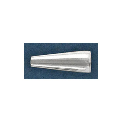 Sterling silver cord end, 17x6mm