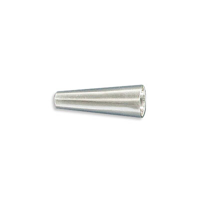 Sterling silver cord end, 20x8mm, cone, inside diameter 3.25mm, .925