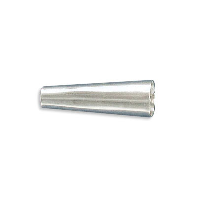 Sterling silver cord end, 27x9mm, cone, inside diameter 4.5mm, .925