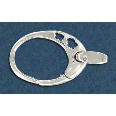 Fancy oval clasp sterling silver