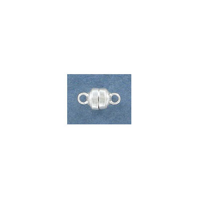 Sterling silver magnetic clasp, 6mm, .925