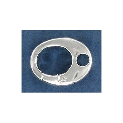 Sterling silver clasp, 17mm, oval