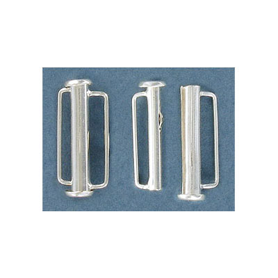Sterling silver clasp, 1inch tube slide clasp