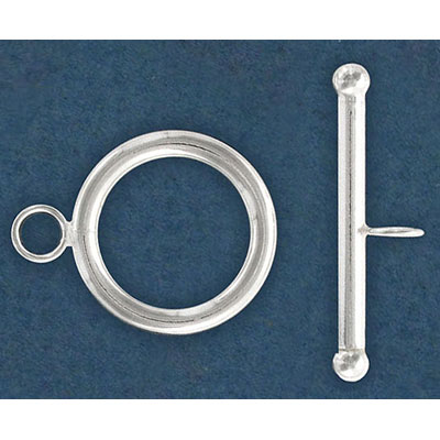Toggle clasp, 21mm, sterling silver