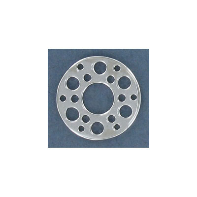 Sterling silver multi-hole disk connector, 20mm