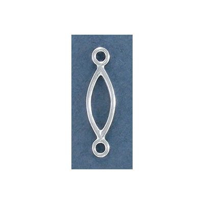 Sterling silver connector, 25.5x7mm