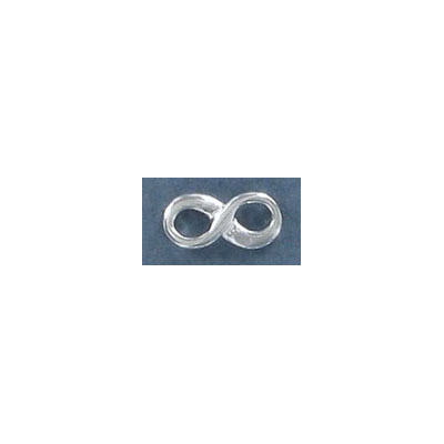 Sterling silver infinity connector, .925