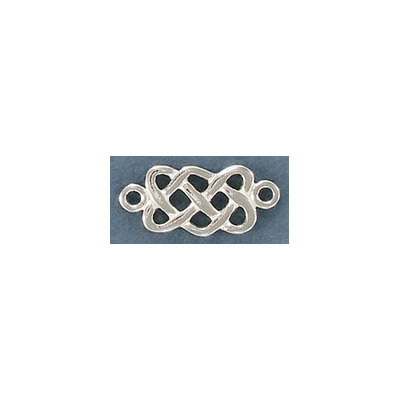 Sterling silver connector, 19x8mm, .925