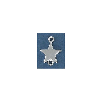 Sterling silver connector, 12mm, star