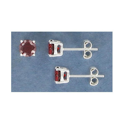 Sterling silver ear posts, .925, ss22 siam cubic zirconia