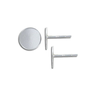 Sterling silver ear posts, .925, with 10mm flat pad