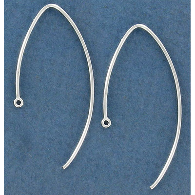 Sterling silver fancy earwire, 43mm