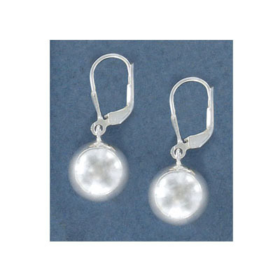 Sterling silver earrings with 12mm ball, .925
