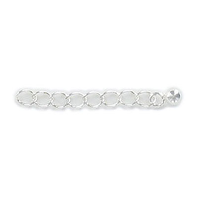 Sterling silver extension chain, 1 inch, .925