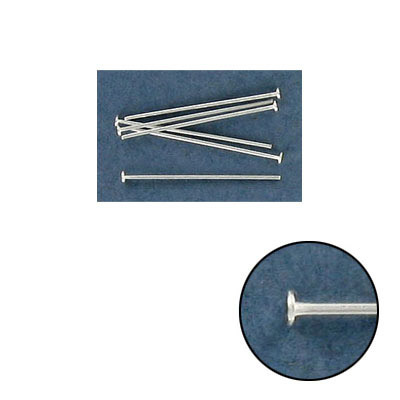 Sterling silver headpin, 3/4 long , 0.5mm wire, .925