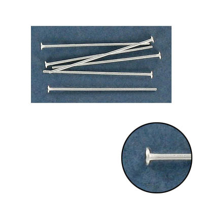 Sterling silver headpin, 1 long , 0.65mm wire, .925