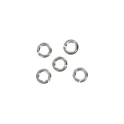 Sterling silver 4.0mmx0.7mm jumpring rhodium plate
