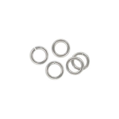 Sterling silver jumpring, 5x0.8mm, rhodium