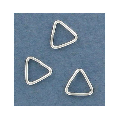 Sterling silver jumpring, 8x8mm, triangle