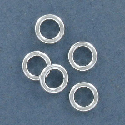 Sterling silver jumpring, soldered, 8x1.6mm