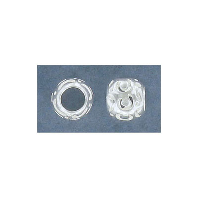 Sterling silver bead .925, 8mm, hole 4mm