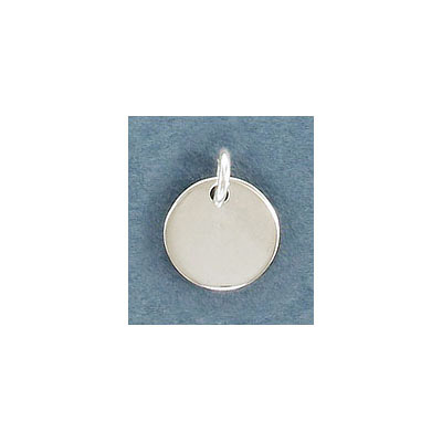 Sterling silver .925, 12mm, round, blank for engraving