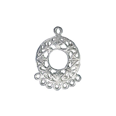 Sterling silver pendant connector 7 row 18x24mm .925