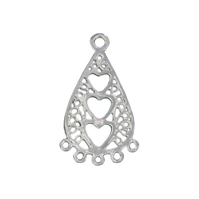 Sterling silver pendant connector 5 row 17x29mm .925
