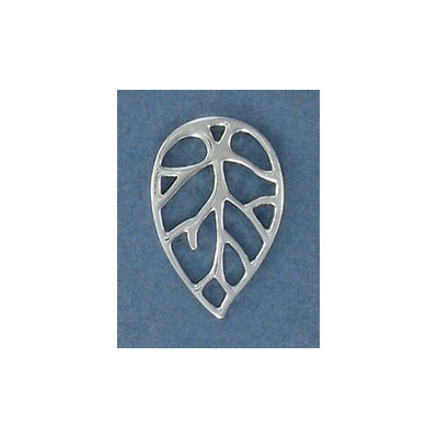 Sterling silver .925 pendant, 23x15mm, leaf