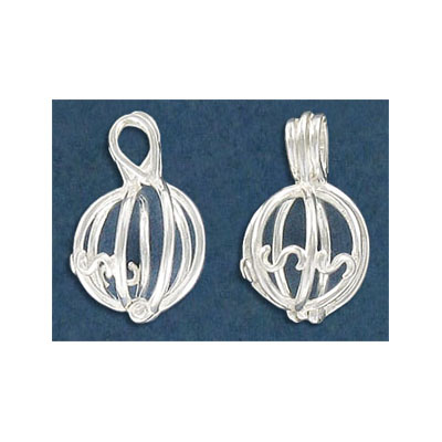Sterling silver .925 pendant, cage pendant for 8mm pearl