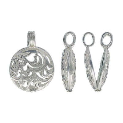 Locket sterling silver filigree pendant